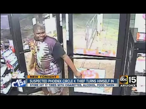 Man accused of robbing same Circle K 17 times turns self in
