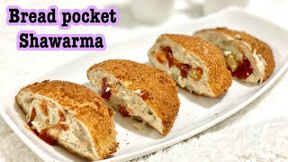 Bread Shawarma pocket recipe  bread pockets  easy and quick Iftar recipe  Ramadan recipes