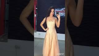 Выпускные золотое платье