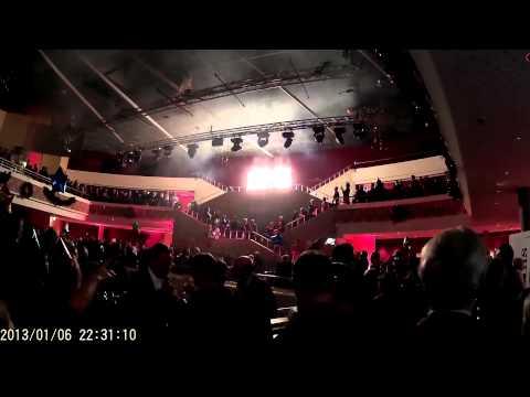 Musicaltheater Bremen Silvester-Feuerwerk 2014/15 im Foyer