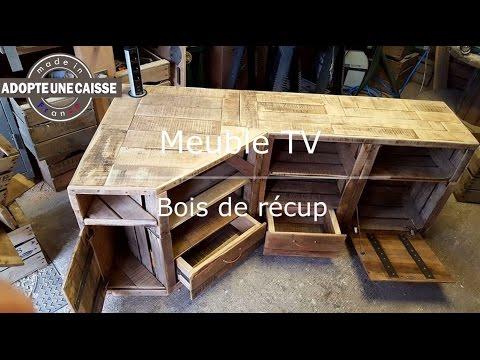 Fabriquer Meuble Tv Angle Récup Maker Diy Youtube