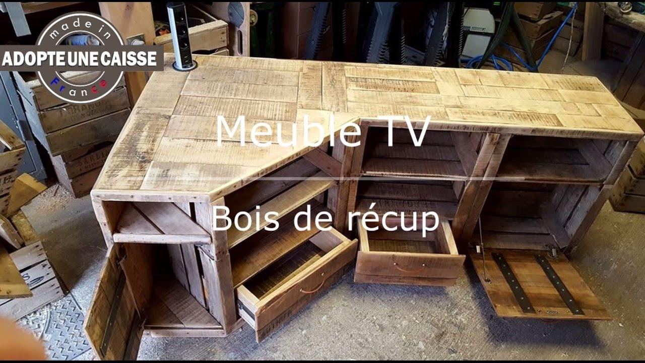 fabriquer meuble tv angle recup maker diy