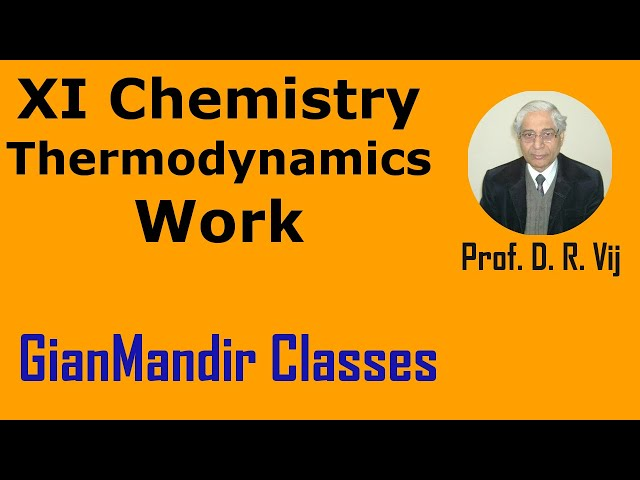 XI Chemistry - Thermodynamics - Work by Ruchi Mam