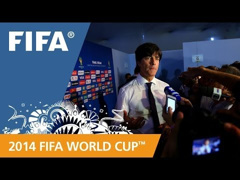 Germany's Joachim LÖW Final Draw reaction (German)