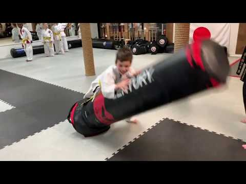 takedown and strike karate kids training