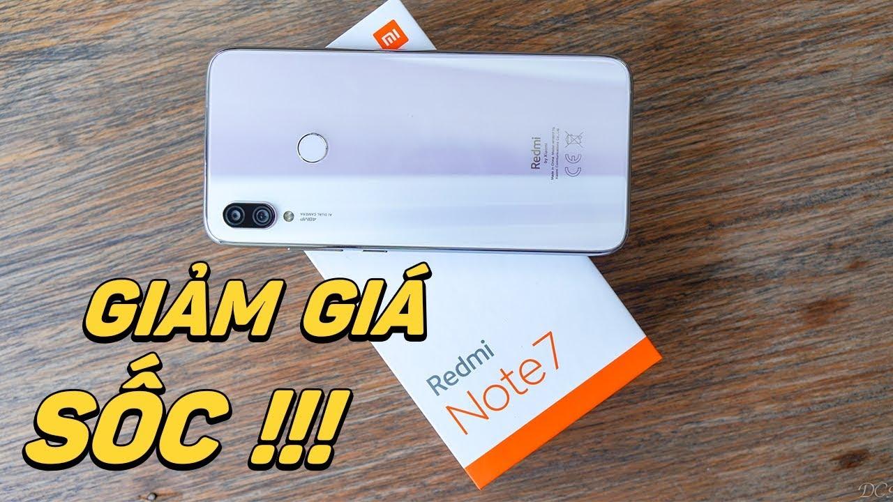 Redmi Note7 giờ giảm giá mạnh quá, tặng kèm sạc nhanh!!!