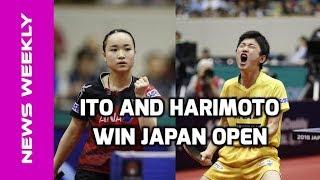 Mima Ito and Tomokazu Harimoto Seal 2018 Japan Open Titles