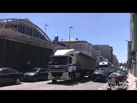 Vuelta a Vilalba de los camioneros que protestan por falta de trabajo en As Pontes