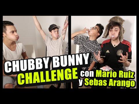 Chubby Bunny challenge ft. Sebas Arango y Mario Ruiz / Harold - Benny / #ChubbyBunny