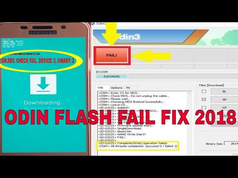 How To Fix ODIN Flash Failed In All Samsung Phones 2018(SW