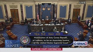 U.S. Senate: Final Debate & Confirmation Vote for U.S. Supreme Court Nominee Judge Amy Coney Barrett