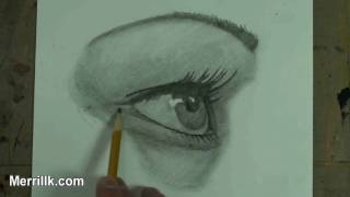 How to Draw the Female Eye, Step by Step, From a Side Profile Perspective