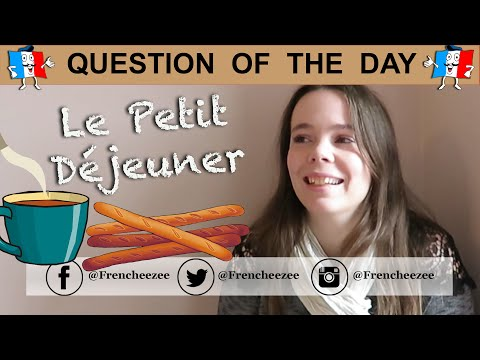 FRENCH VLOG - WHAT I EAT FOR BREAKFAST - France vs England | Question Of The Day #1