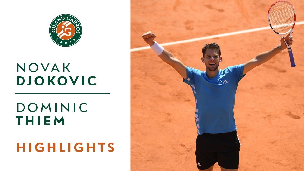Novak Djokovic Vs Dominic Thiem Semi Final Highlights Roland Garros 2019 Youtube