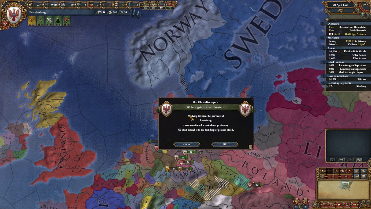 EU4 Brandenburg quest to form Prussia #2 - YouTube