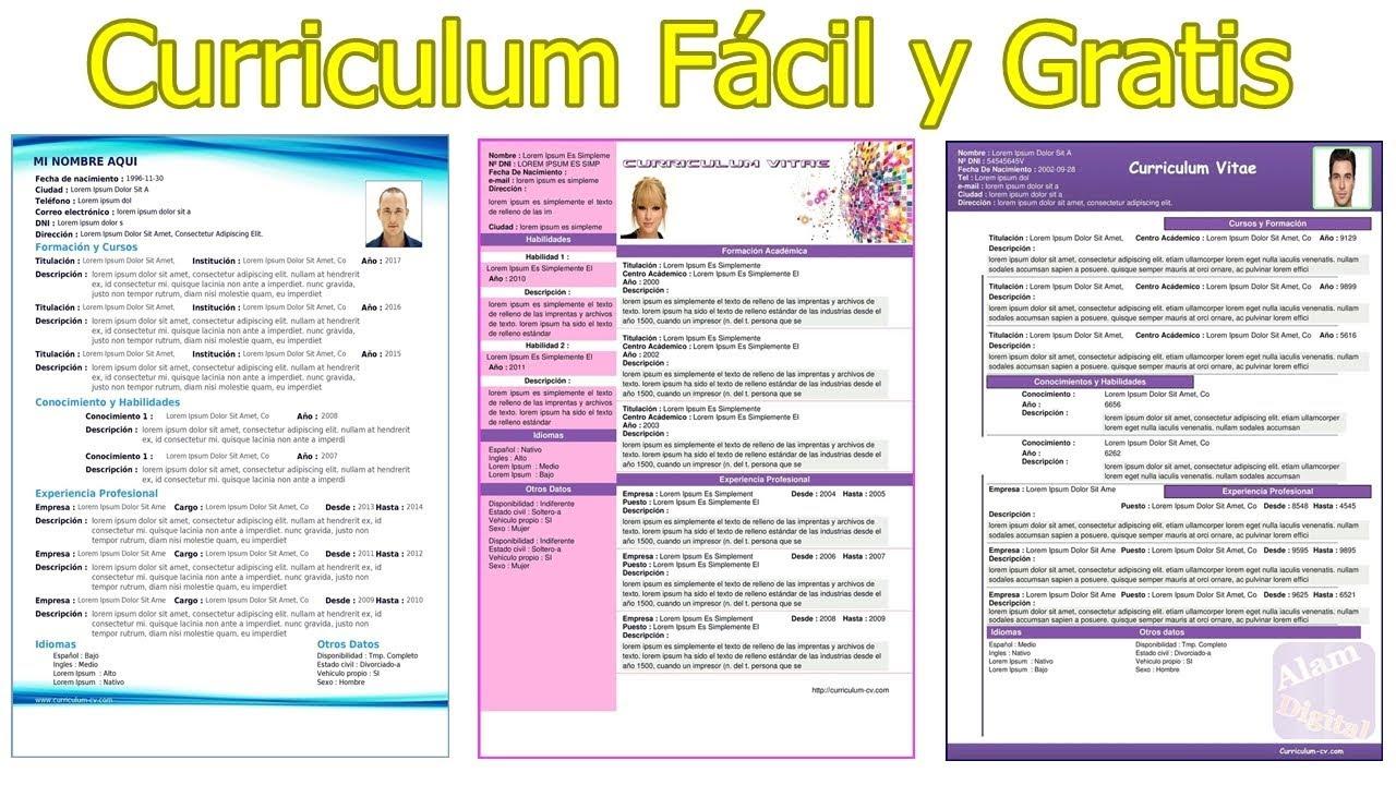 Crear Curriculum Online F U00e1cilmente Gratis Sin Registro Y
