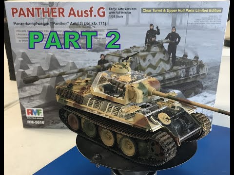 cut away parts in 1 Rye Field Model RM-5019 Panther Ausf.G with full interior u