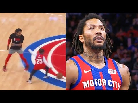 Derrick Rose Can't Believe His Son Used His Step-Back \u0026 Crazy Highlights vs Hornets! 2019 NBA Season