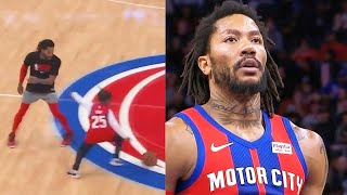 Derrick Rose Can't Believe His Son Used His Step-Back & Crazy Highlights vs Hornets! 2019 NBA Season