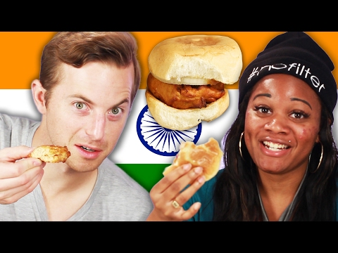 People Try Indian Street Food