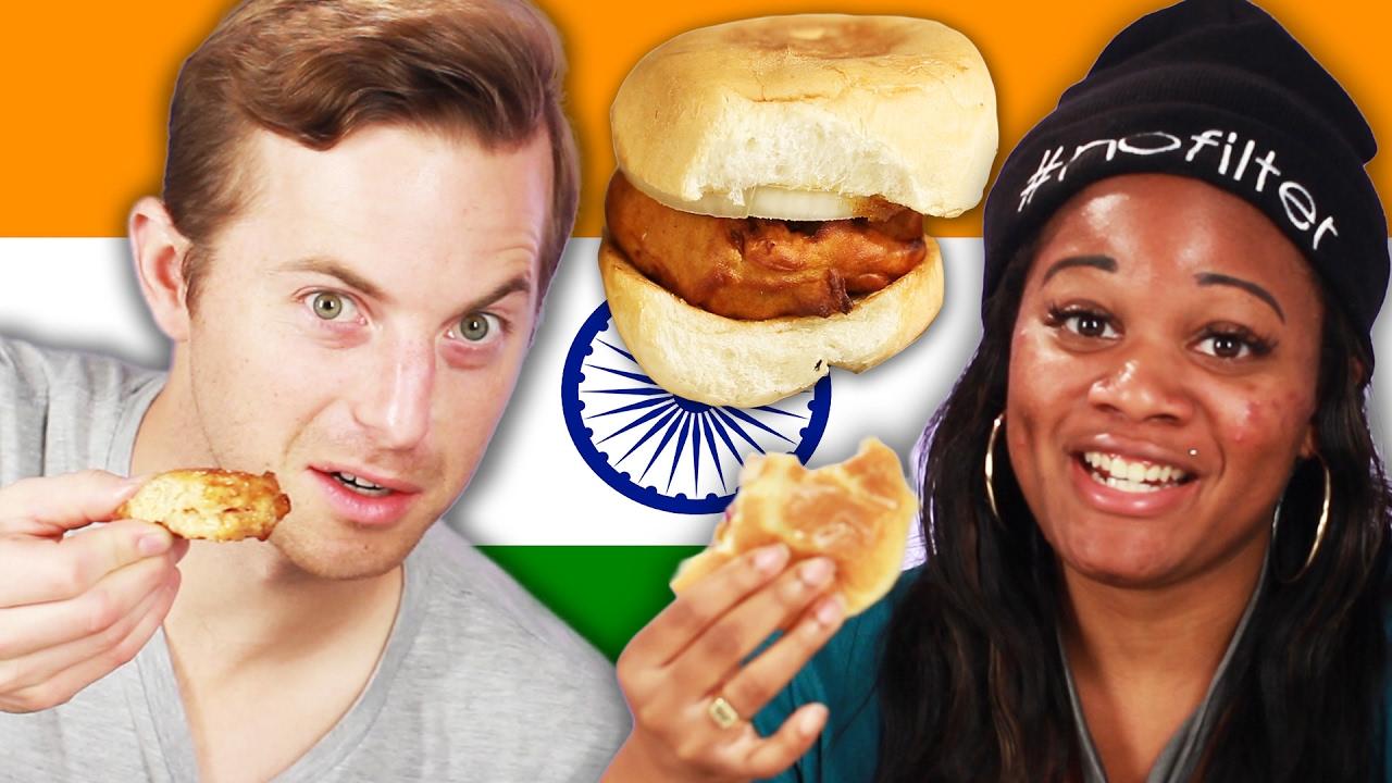¡Tratan de indio calle alimentos