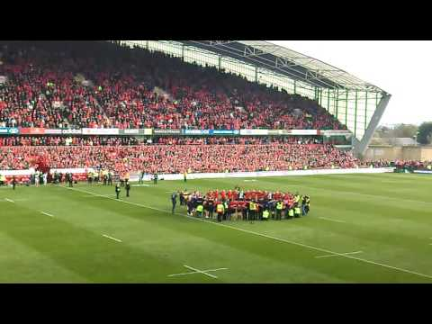 Munster v Glasgow post match tribute to Axel