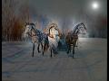 В лунном сияньи снег серебрится Караоке история текст mp3