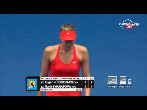 Eugenie Bouchard vs Maria Sharapova MATCH POINT Australian Open 2015