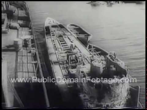 Nazi U Boat U-843 raised from sea bottom in Sweden 1958 archival footage