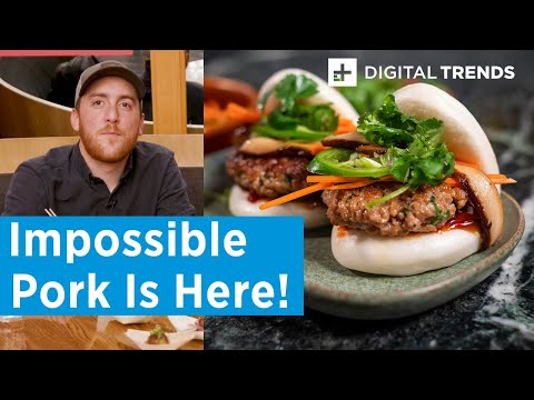 We Tried The Brand New IMPOSSIBLE PORK At CES 2020