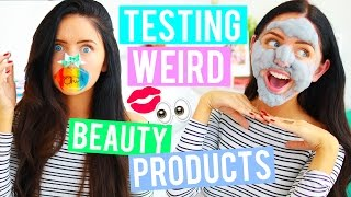 Testing WEIRD Beauty Products! Crazy Products You NEED To Try! Asian Beauty Products Tested!