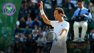 Novak Djokovic v Tomas Berdych highlights - Wimbledon 2017 quarter-final