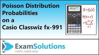 Poisson Distribution - Probabilities on a Casio Classwiz fx-991 es Calculator