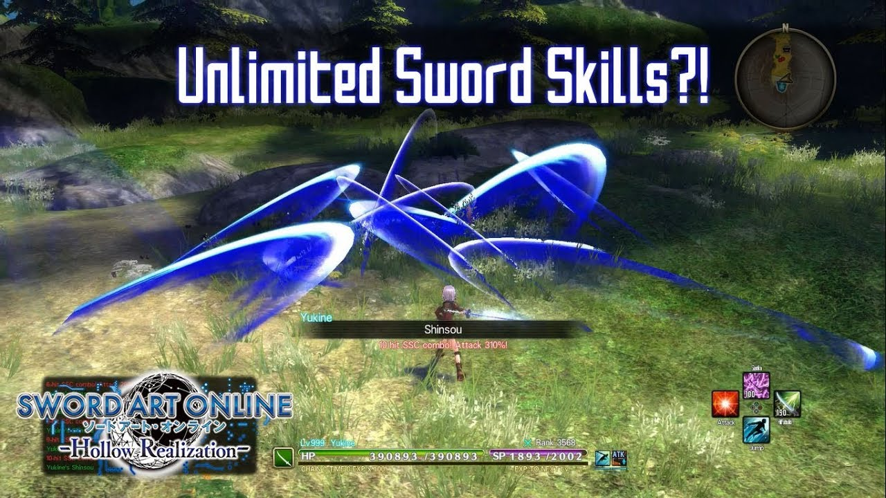 SP Regen +9% Build Test - Sword Art Online: Hollow Realization
