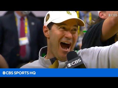 Baylor's Scott Drew Championship Podium Interview   CBS Sports HQ