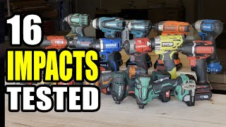Best 18V Impact Driver Shootout - 16 Models Tested Head to Head