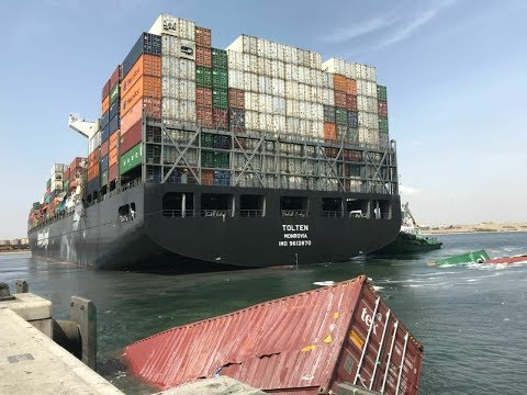 Ship collision at Karachi Port (SAPT)
