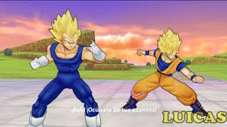 Dragon Ball Z Tenkaichi Tag Team PSP Gameplay HD Goku y Vegeta Batalla 100 Parte 9