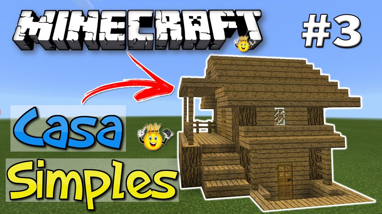 Como fazer casa simples para survival minecraft 3 youtube for Casa moderna survival minecraft