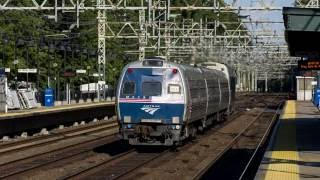 Amtrak NY Yankees Special Train on Metro-North line