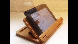 Flip Cookbook Holder Bamboo Large, Securely Holds And Protects Cookbooks; Bamboo Cookbook Holder