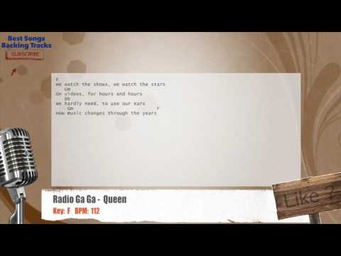 Radio Ga Ga -  Queen Vocal Backing Track with chords and lyrics