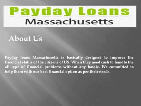Видео Payday loans in massachusetts