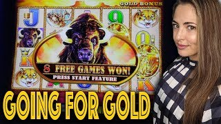 $18/BET! Buffalo GOLD Collection Slot in Las Vegas!