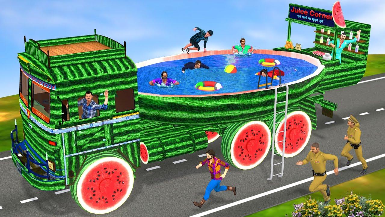 तरबूज ट्रक स्विमिंग पूल Watermelon Truck Swimming Pool Hindi Kahaniya Comedy New Kahani कहानियाँ