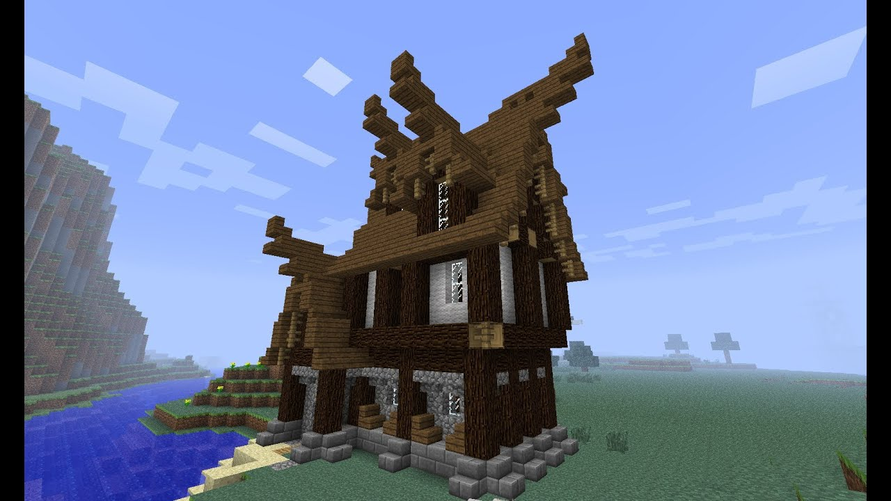 Small medieval house tutorial minecraft youtube for Classic house tutorial