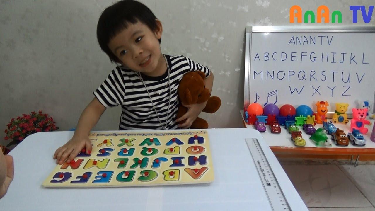 Bé học chữ cái tiếng anh – Bảng chữ cái tiếng anh cho bé ❤ Anan ToysReview TV ❤