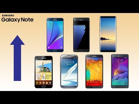 History of Samsung Galaxy Note Phones 2011-2018