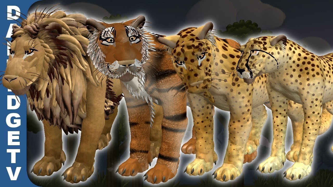Spore Big Cats Tigers Lions Leopards Cheetahs Youtube
