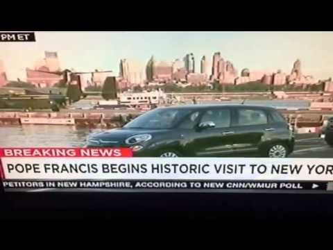 Pope Francis In NYC, Uses Fiat Sedan #PopeInNYC